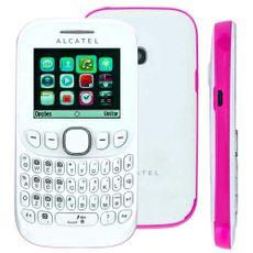Celular-Desbloqueado-Alcatel-OT-3000-Branco-Rosa-com-Teclado-Qwerty-Tri-Chip-Camera-VGA-MP3-e-Radio-FM-2893031