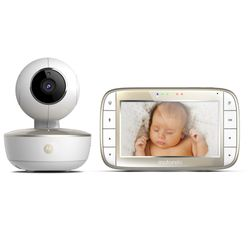 Baba-Eletronica-Motorola-MBP855-Connect-Wi-Fi-Tela-Colorida-De-5--Visao-Noturna-Bi-Volt-Branco