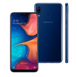 Smartphone-Samsung-Galaxy-A20-32Gb-3GB-RAM-Dual-Chip-Android-9_0-Tela-6_4---Azul