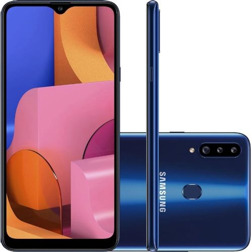 """Smartphone-Samsung-Galaxy-A20s-32GB-Dual-Chip-4G-Tela-64""""-Camera-13MP-8MP-5MP-Frontal-8MP-Android-9_0-Azul"""