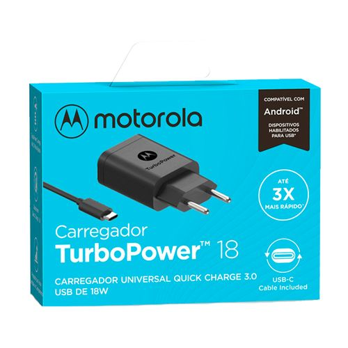 Carregador-de-Parede-Motorola-Turbo-Power-18W-100-240V-Com-Cabo-USB-Tipo-C-Preto