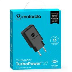 Carregador-de-Parede-Motorola-Turbo-Power-27W-100-240V-Sem-Cabo--SC-37--Saida-Tipo-USB-C-Preto