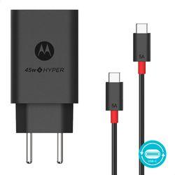 Carregador-de-Parede-Motorola-Turbo-Power-45W-100-240V-Com-Cabo-USB-Tipo-C-Preto