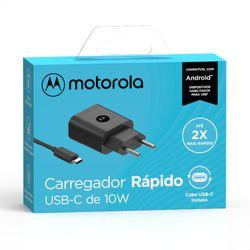 Carregador-de-Parede-Motorola-Turbo-Power-10W-100-240V-com-Cabo-USB-Tipo-C--SC-47--Preto