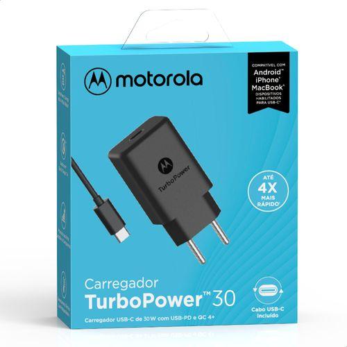 Carregador-de-Parede-Motorola-Turbo-Power-30W-100-240V-Com-Cabo-USB-Tipo-C-Preto
