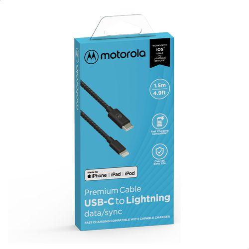 Cabo-Cordao-de-Dados-e-Carga-Motorola-USB-C-para-Lightning-Tamanho-1_5-Metro---Preto