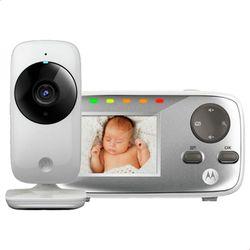 Baba-Eletronica-Motorola-MBP482-Tela--De-2_4-Zoom-Digital-Visao-Noturna--Temp-16-Canais-Branca