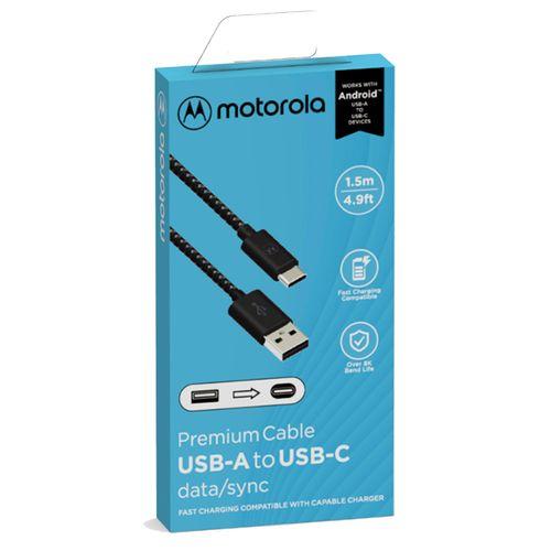 Cabo-De-Dados-Cordao-Motorola-Original-USB-A-Para-USB-C-De-15-Metro---Preto