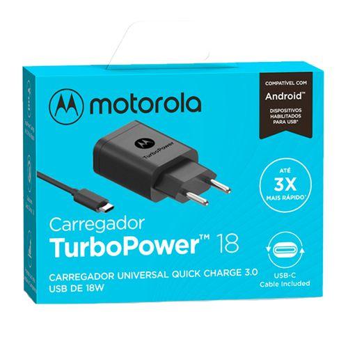 Carregador-De-Parede-Motorola-Turbo-Power-18w-Com-Cabo-Usb-C-Preto